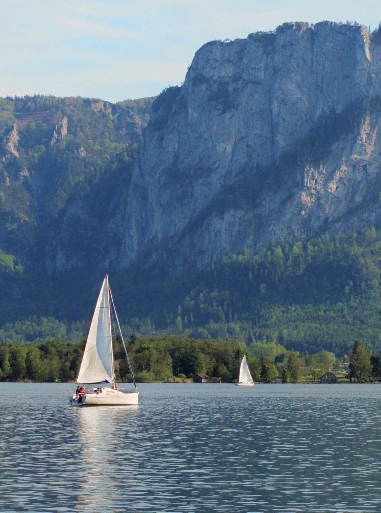 אגם Mondsee זלצקמרגוט