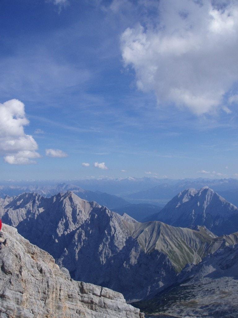 נוף מהצוגשפיצה על גבול אוסטריה גרמניה